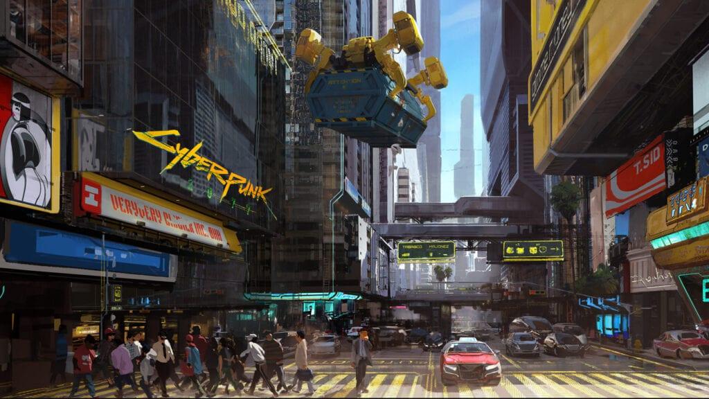 Cyberpunk 2077 Night City City Center Concept Art