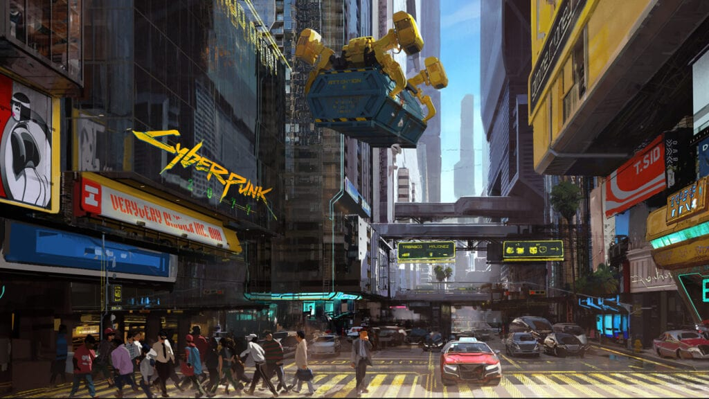 Cyberpunk 2077 Night City City Center Concept Art