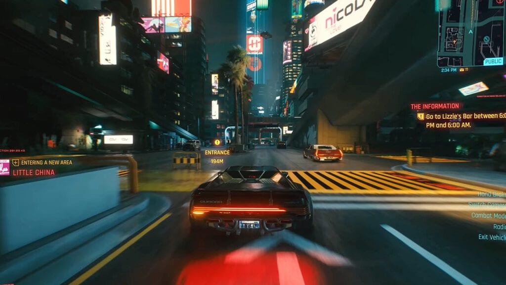 Cyberpunk 2077 Night City Driving Gameplay