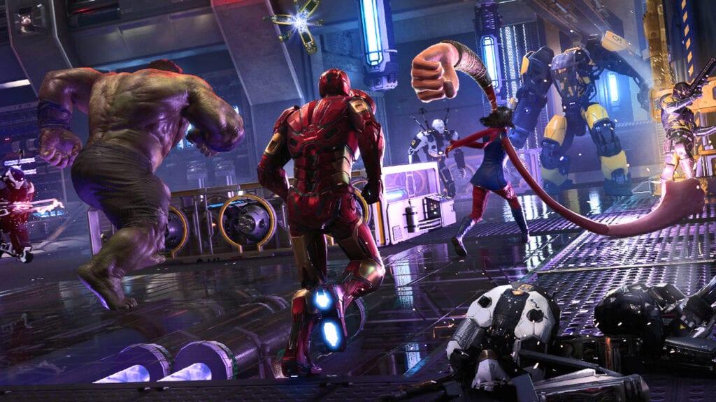 Marvel's Avengers Iron Man Hulk Ms Marvel