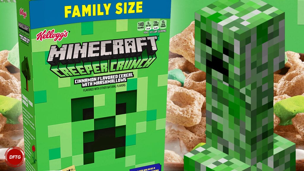 Minecraft Cereal Creeper Crunch