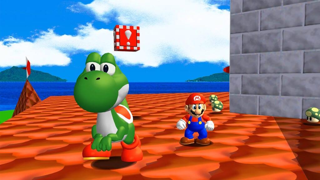 Super Mario 64 PC mod yoshi