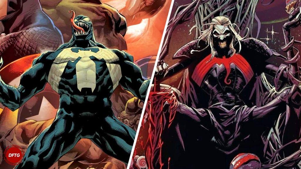 Venom Knull Symbiote God King in Black Marvel Comics