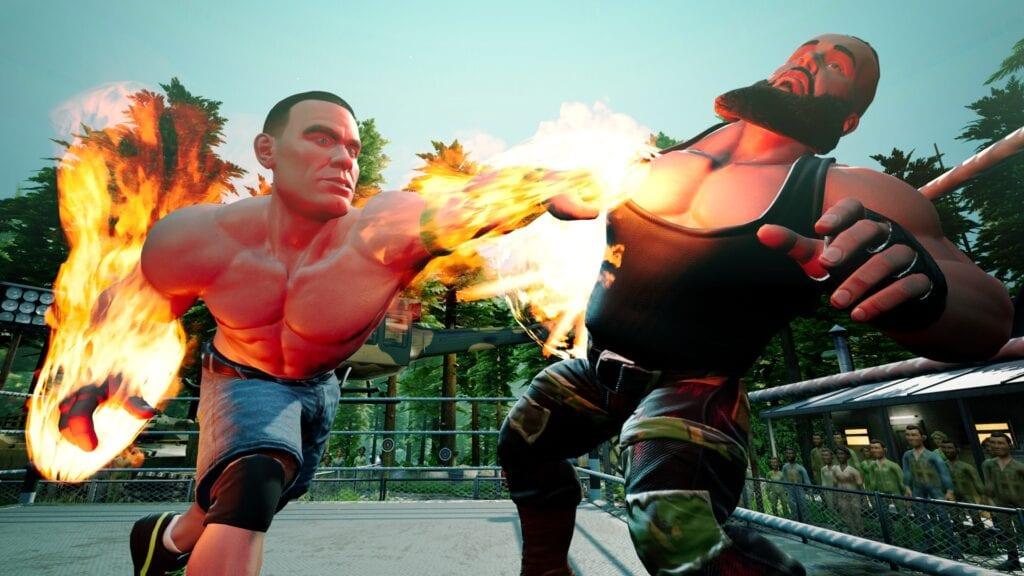 WWE 2K Battlegrounds John Cena Braun Strowman
