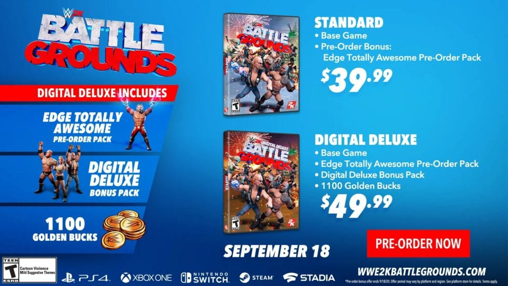 WWE 2K Battlegrounds Pre-Order