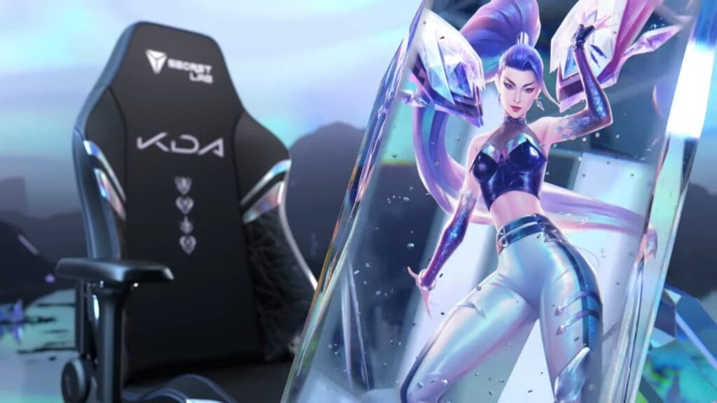 League Of Legends K/DA ALL OUT Gaming Chairs Revealed (VIDE)
