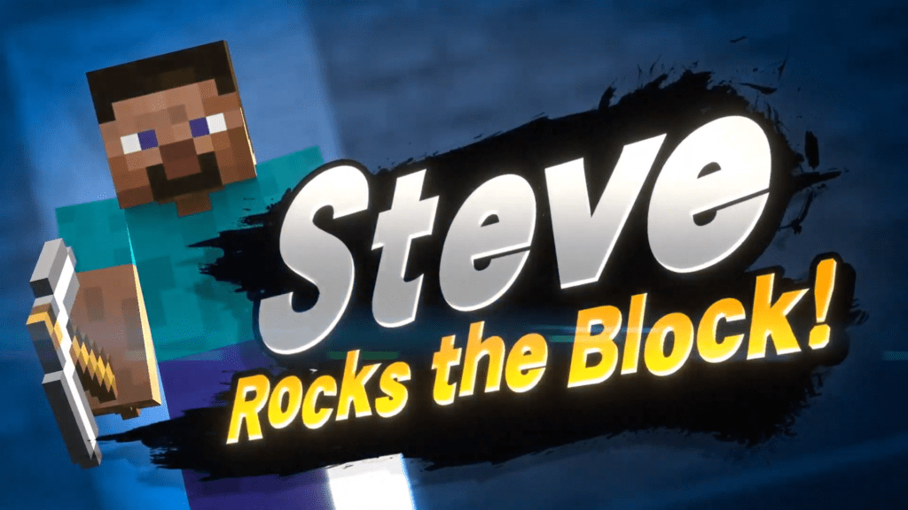 Minecraft Steve Super Smash Bros Ultimate