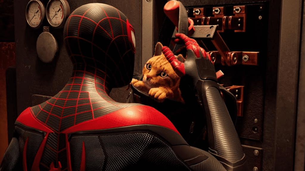 spider-man miles morales spidey-cat