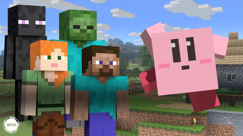 Super Smash Bros. Ultimate Minecraft Steve Alex Zombie Enderman Kirby