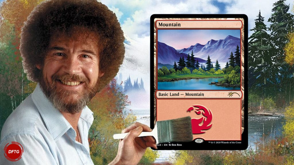 Bob Ross Magic The Gathering
