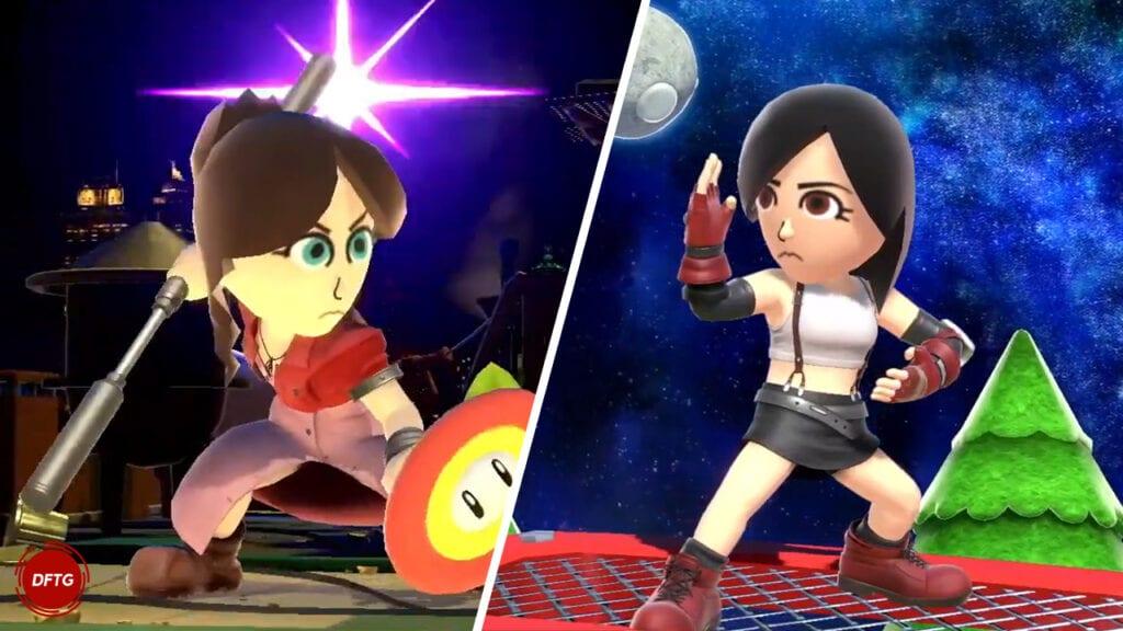 Super Smash Bros Ultimate Final Fantasy vii aerith tifa mii fighters