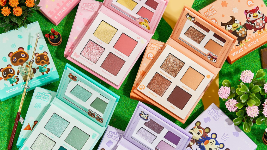 animal crossing new horizons colourpop makeup