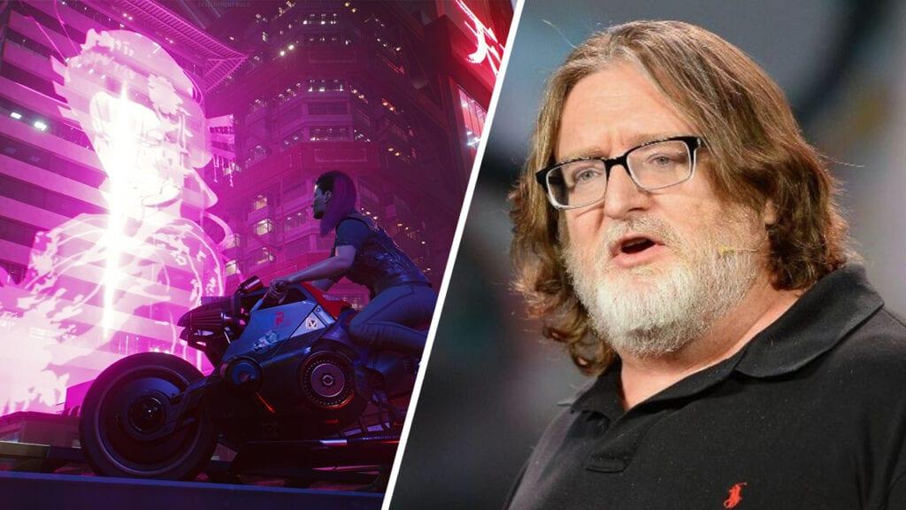 Cyberpunk 2077 Gabe Newell Gaben Valve