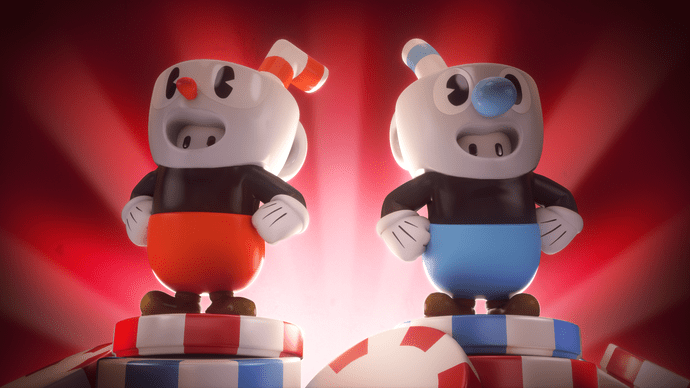 Fall Guys Cuphead Mugman Costumes