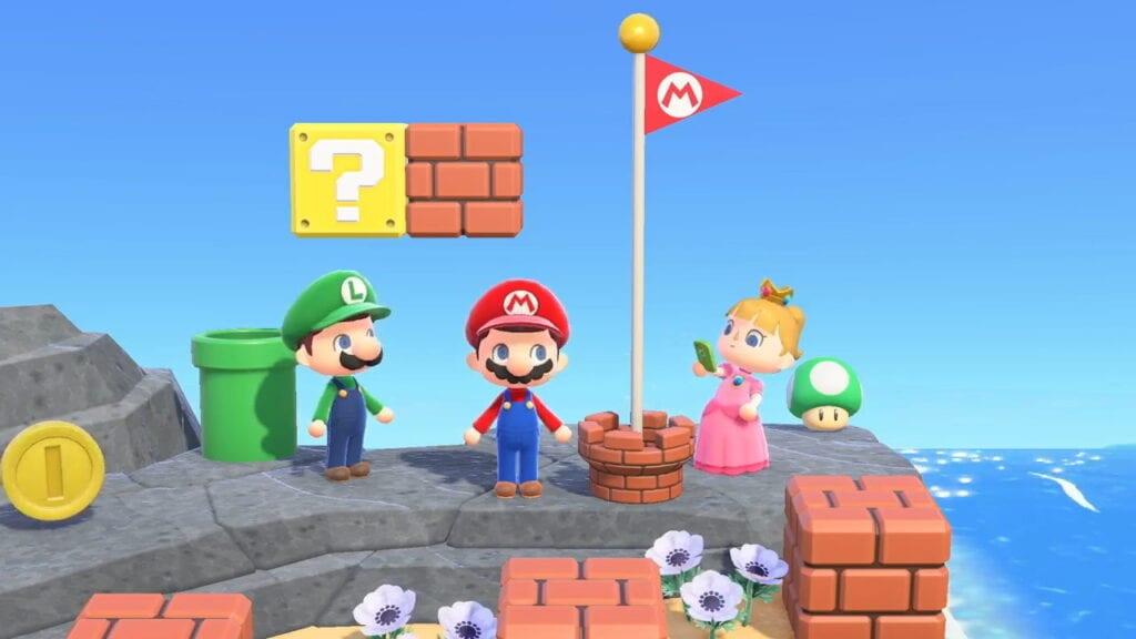 Animal Crossing New Horizons Super Mario