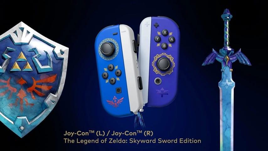 Skyward Sword Special Edition Joy-Cons Revealed For Nintendo Switch