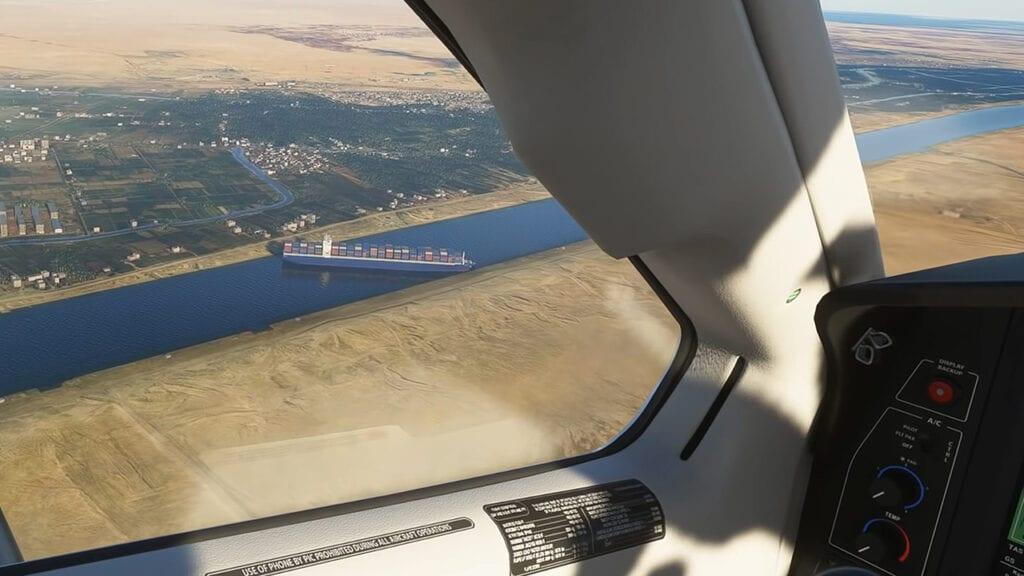 Microsoft Flight Simulator Mod Suez Canal Cargo Ship