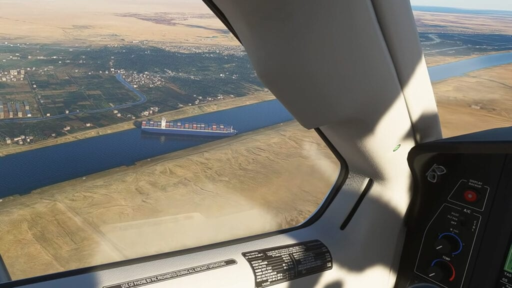 Microsoft Flight Simulator Mod Suez Canal Cargo Ship