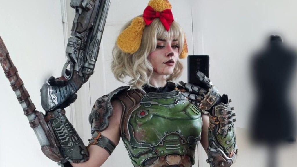 Doomguy Isabelle Mashup Cosplay