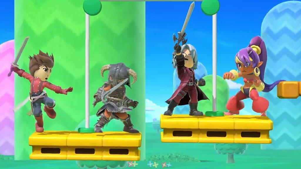 Super Smash Bros. Ultimate Devil May Cry, Skyrim Mii Fighters