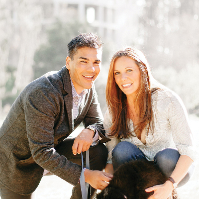 Professional photo of Troy and Shelby kneeling