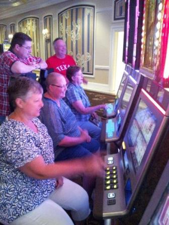 Teaching Mom to gamble