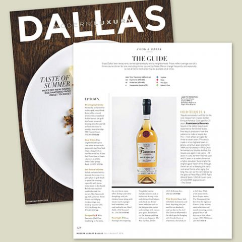 "Modern Luxury Dallas on Fuenteseca Reserva Tequila 21: ""Connoisseurs Will Flip"""