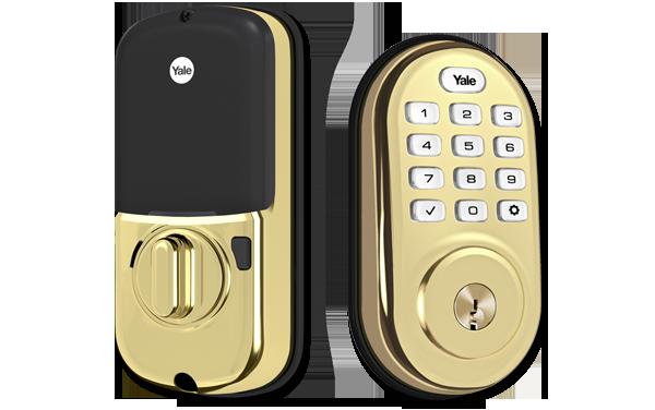 Brass Assure Lock Push Button Deadbolt (YRD216)