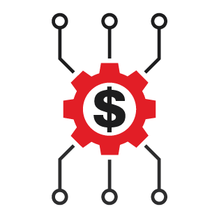 Red and black WashCard Payment Systems icon.