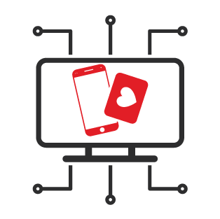 Red and black WashCard Loyalty Software icon.