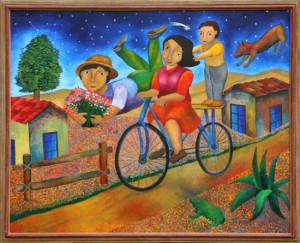 Artist: Roman Andrade Llaguno, Oaxaca, Mexico (1959 - ) Title: Ramos de Flores Year: 1996