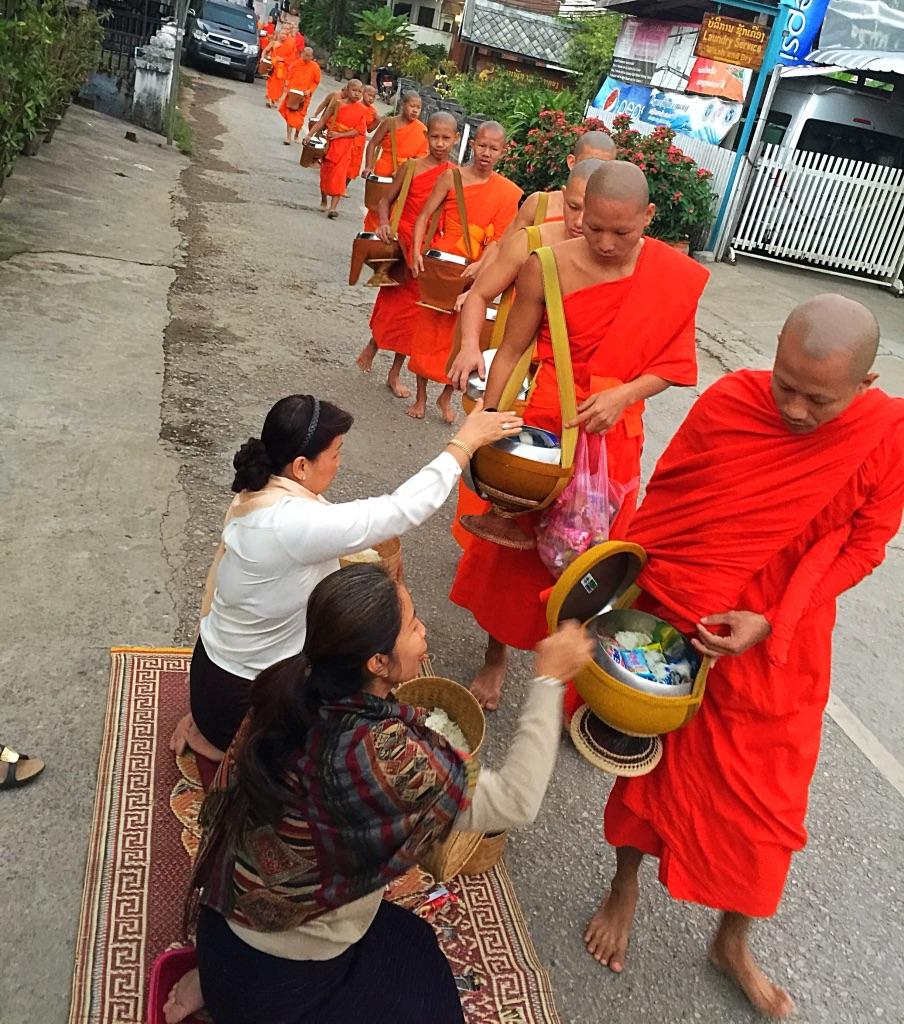 Luang Prabang Laos Monk Procession