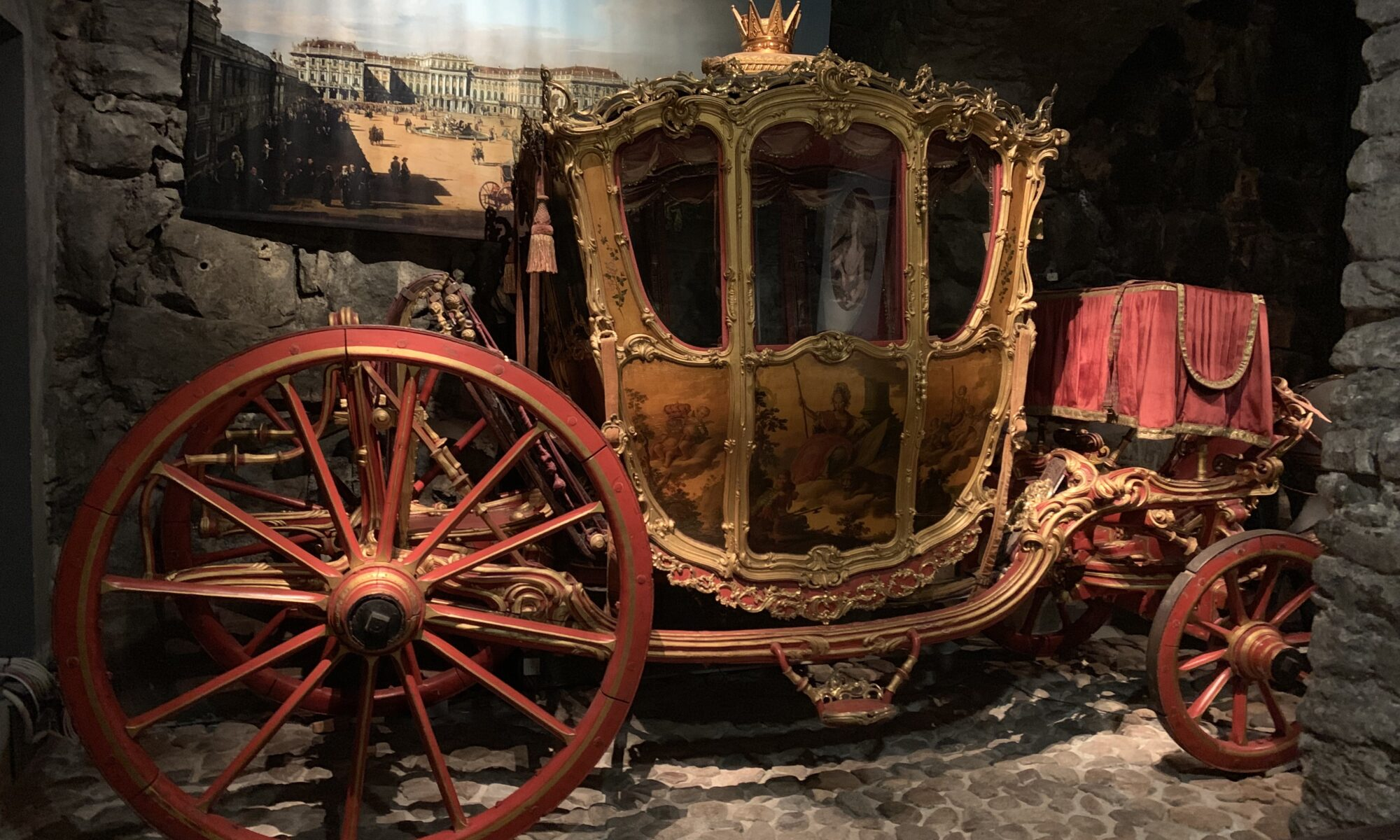 Carriage in the Royal Armory Museum in Stockholm, Sweden