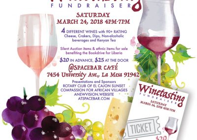 Fundraiser Flier and Ticket Design