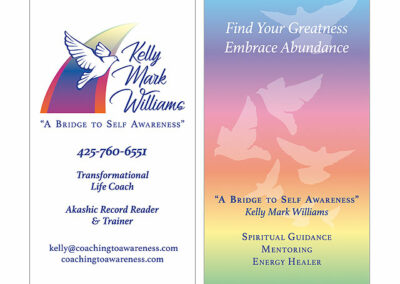 transformational coach business card
