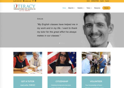 literacy website design