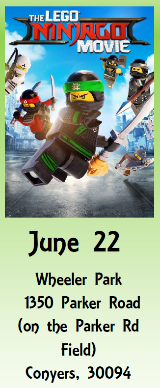 Sunset Cinema - The Lego Ninjago Movie @ Wheeler Park