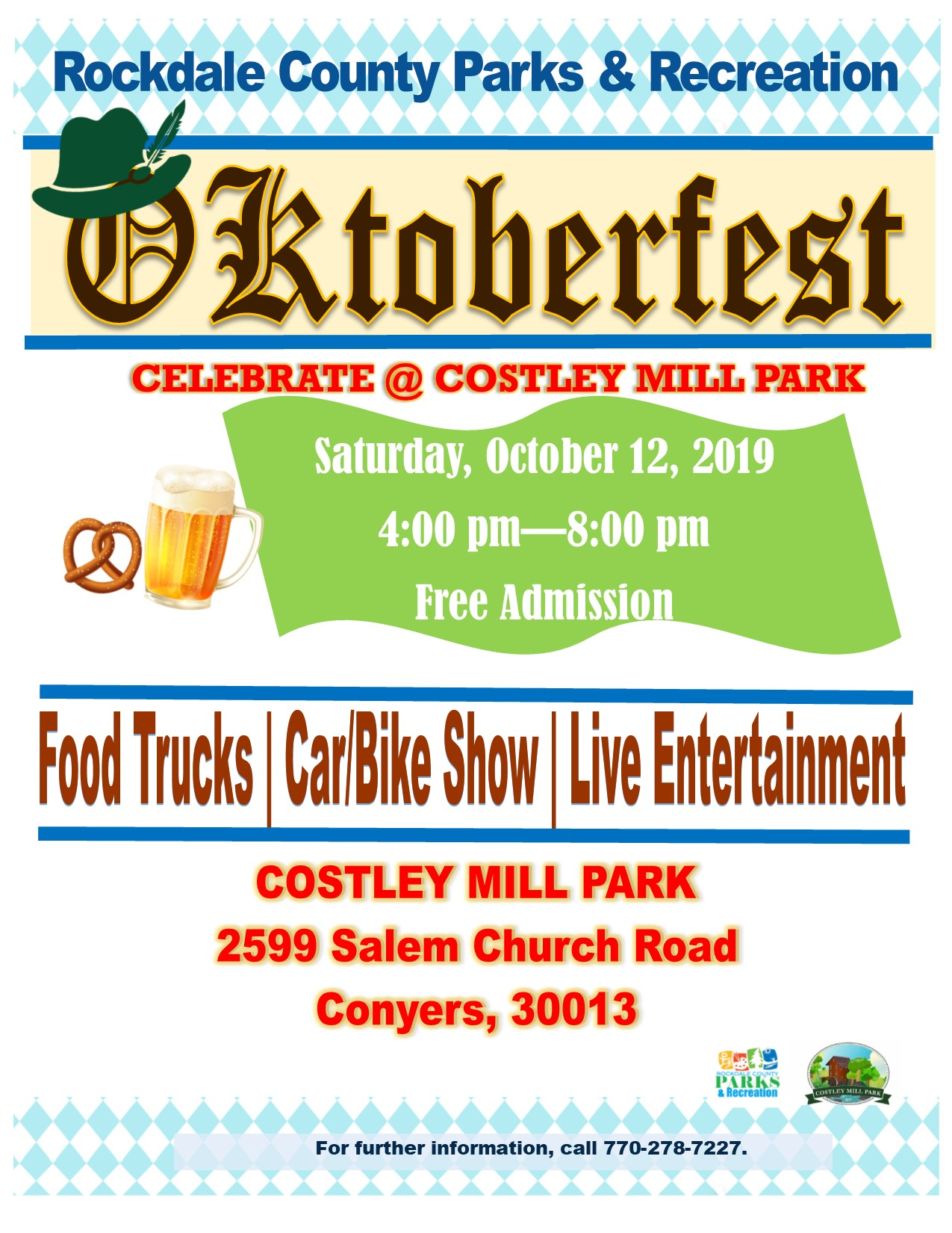 Oktoberfest at Costley Mill @ Costley Mill Park