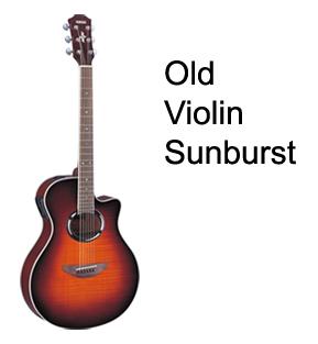 APX500FMI OVS in Old Violin Sunburst