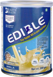Edible diabetic meal replacement powder