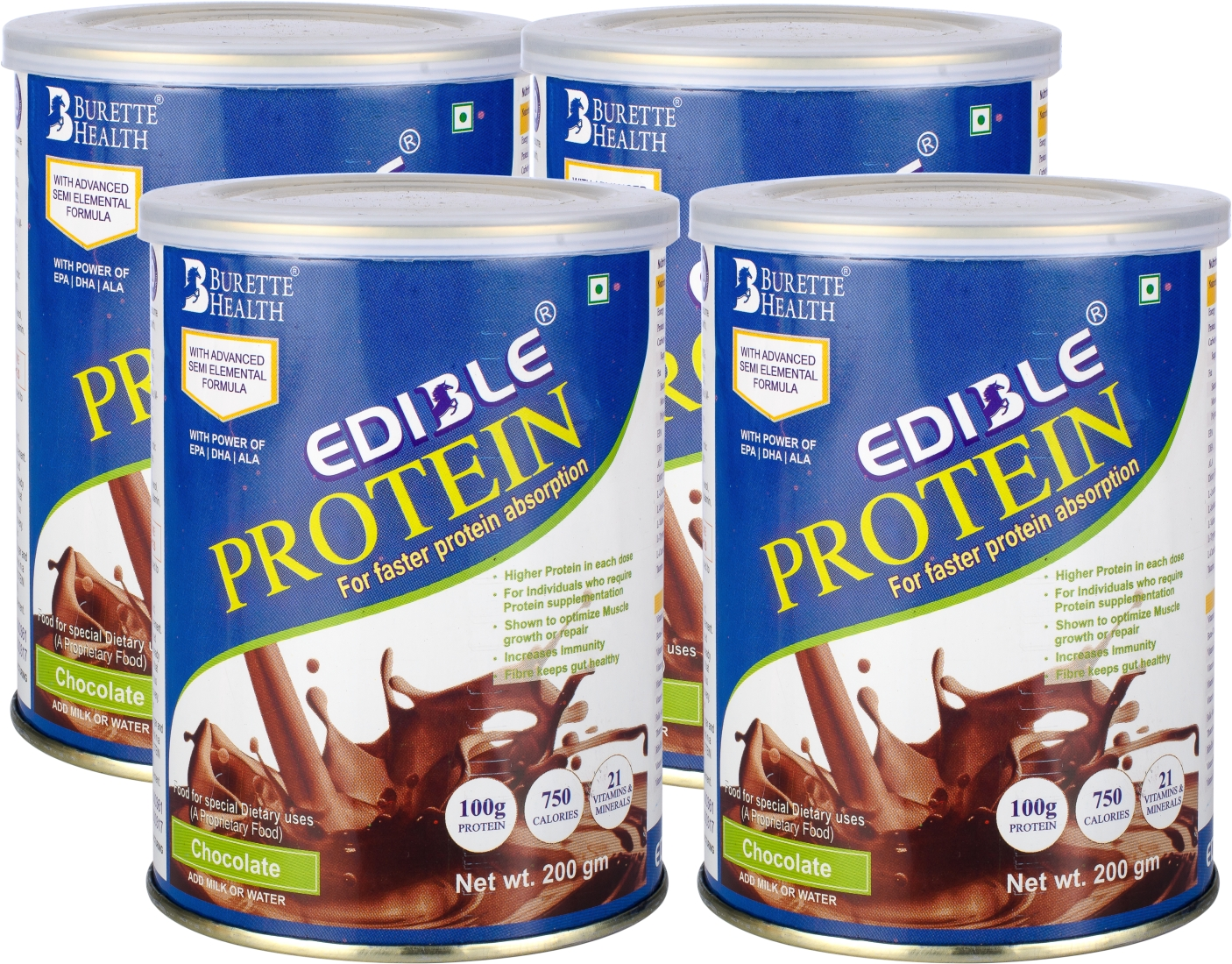 Edible protein powder pack of 4