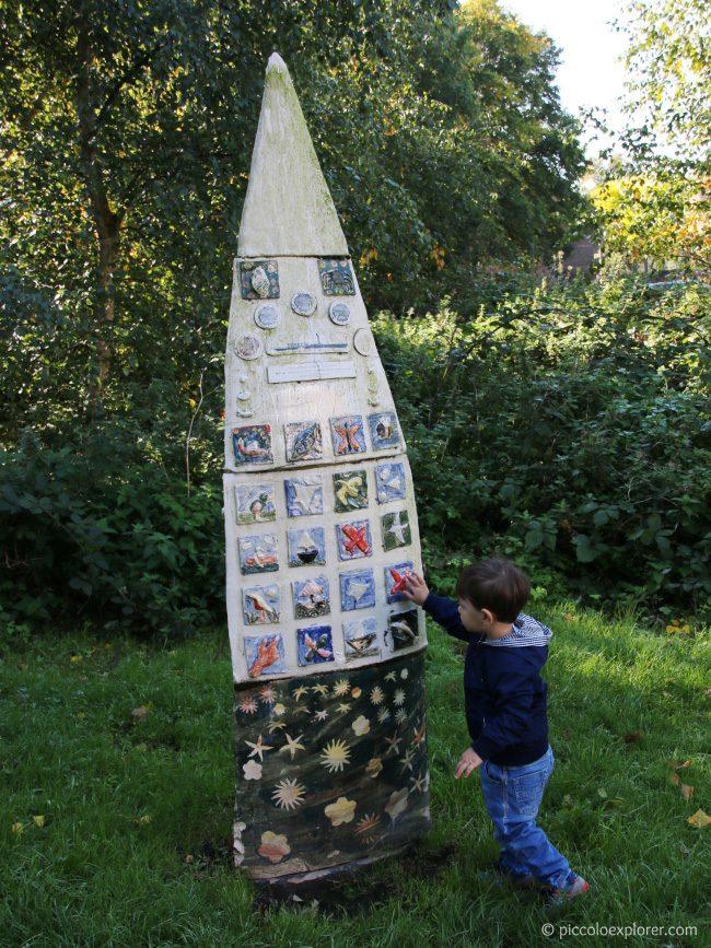Sculptures at Corny Reach Entrance, Dukes Meadows