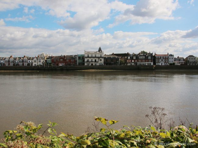 View of Barnes from Chiswick Thames Path
