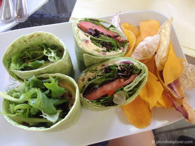 Vegetable Wrap at Moana Surfrider Waikiki Beach Bar
