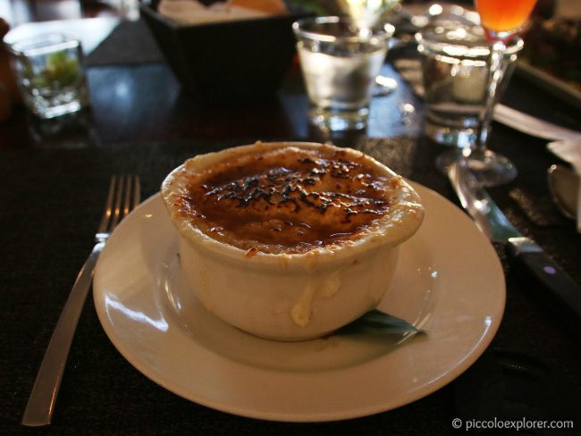 French Onion Soup at the Beachhouse at the Moana Surfrider Waikiki
