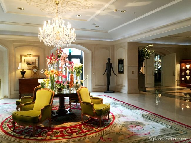Lobby at the Four Seasons Hotel Prague