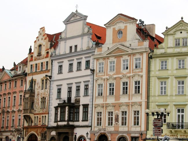 Buildings in Old Town Square Prague