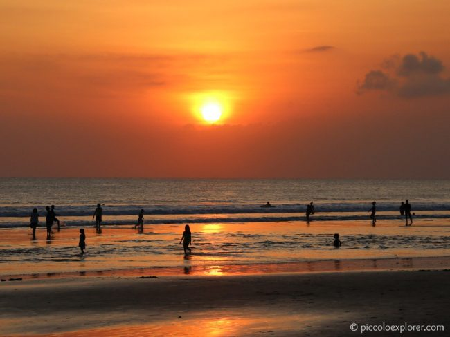 Sunset at Legian Beach, Bali