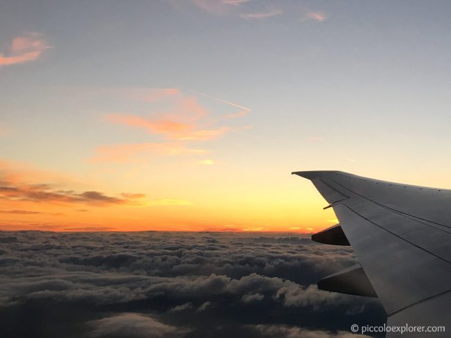 Flying at Sunset with Garuda Indonesia