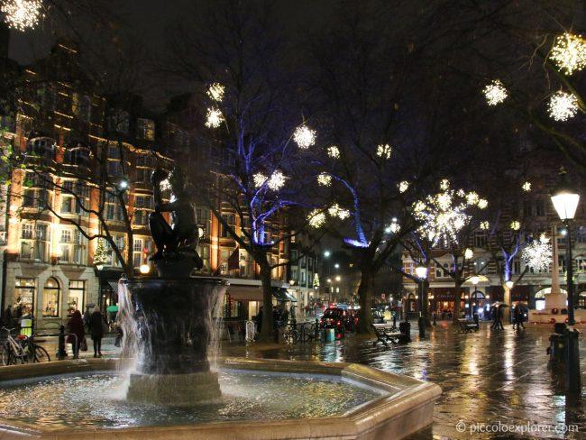Sloane Square Christmas Lights Chelsea London